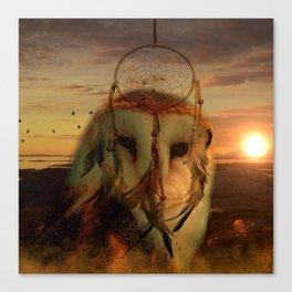 Dream Catcher and Magic Owl Canvas Print