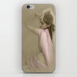 """""""Mattaharish"""" - The Playful Pinup - Vintage Weathered Pinup Girl by Maxwell H. Johnson iPhone Skin"""