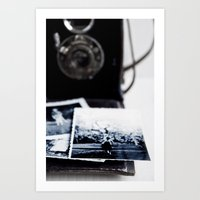 vintage camera Art Prints featuring camera by Ingrid Beddoes