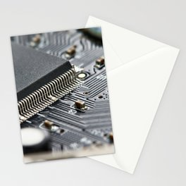 Elements of electronic circuit board Stationery Cards