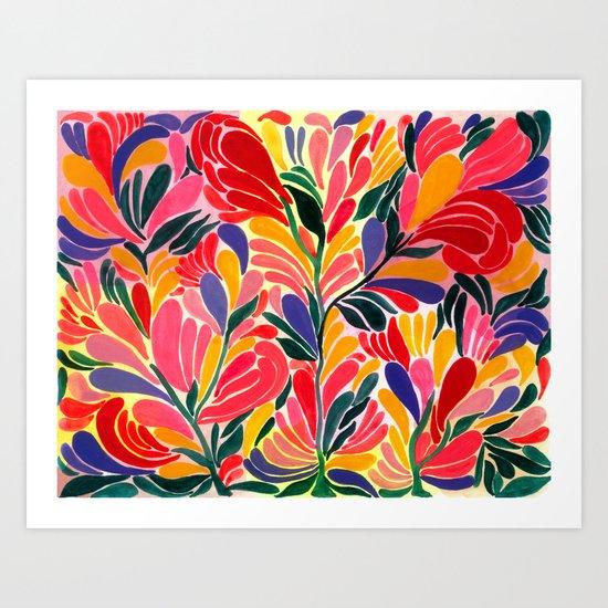 Colorful Petals Pattern Art Print
