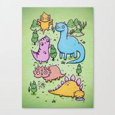 Prehistoric cats Canvas Print