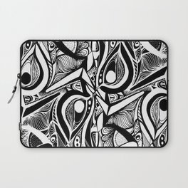 Abstract black and white tribal pattern. Laptop Sleeve