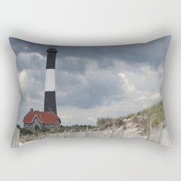 Fire Island Light From The Beach Rectangular Pillow