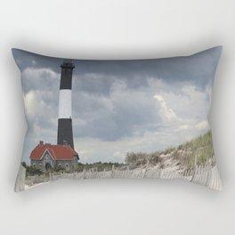 Fire Island Light From The Beach Rectangular Pillow