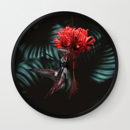 Hummingbird Poster Wall Clock