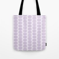 macaroon Tote Bags featuring Purple Macaron Pattern - Lavender Macaroon by French Macaron Art Print and Decor Store