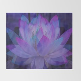 The Lotus in blue... Throw Blanket