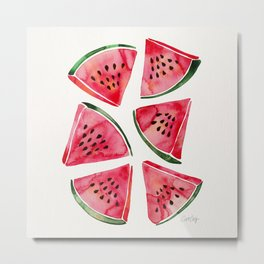 Watermelon Slices Metal Print