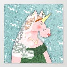 Unicorn Queen Victoria Canvas Print