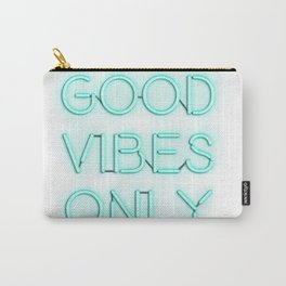 Neon Good Vibes - Teal Carry-All Pouch