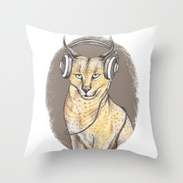 Сaracal relax Throw Pillow