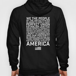 American Constitution Preamble Hoody