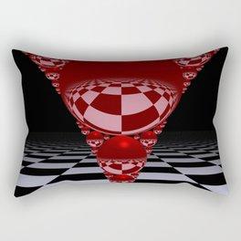 Apollonian gasket - red Rectangular Pillow