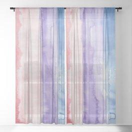 24     190907   Watercolor Abstract Painting Sheer Curtain