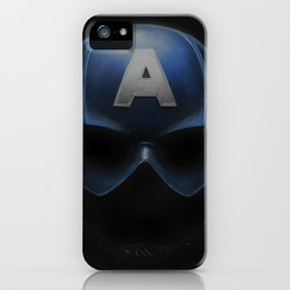 Capt America - Cowl Portrait iPhone Case