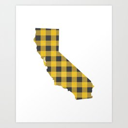California Plaid in Yellow Art Print