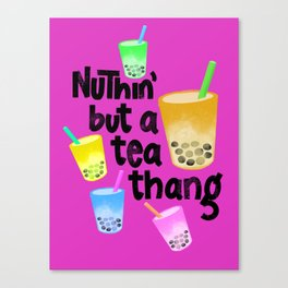 Tea thang // boba bubble tea // tea pattern Canvas Print