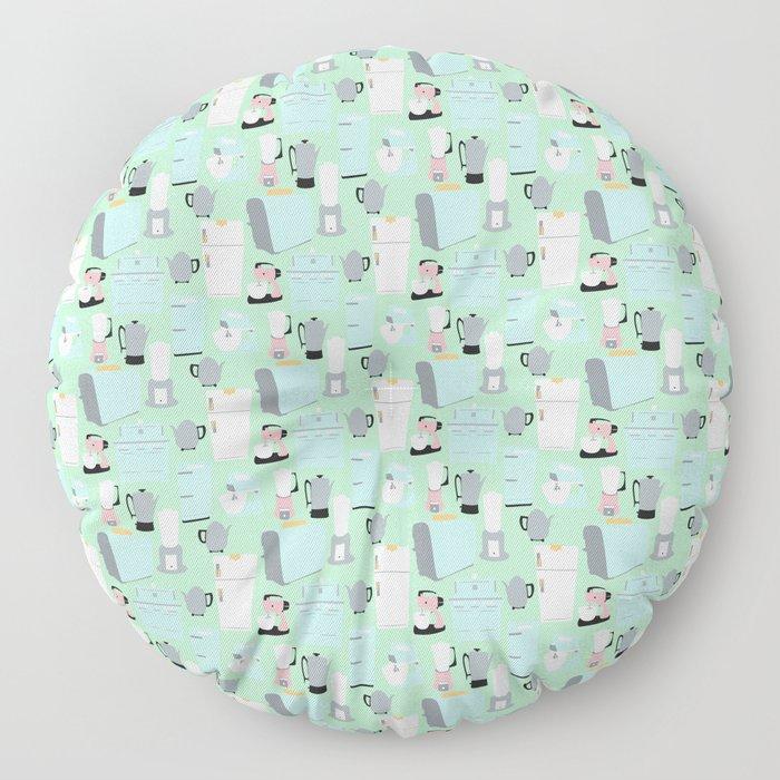 Retro Kitchen Floor Pillow