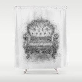 Sit a Bit! Shower Curtain