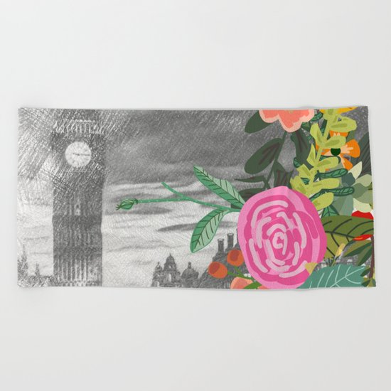 Flowers bouquet #13 Beach Towel