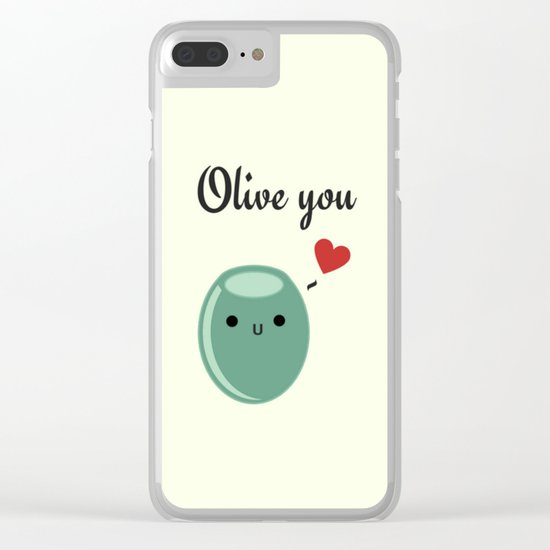 Olive You Clear iPhone Case