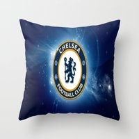 chelsea Throw Pillows featuring CHELSEA by Acus