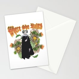 Melonie: Victorian Flower Series, Where She Rules Stationery Cards