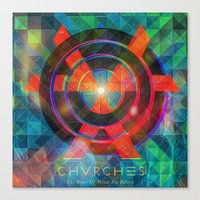 chvrches Canvas Prints featuring Chvrches by Mapache