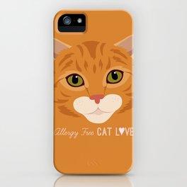Allergy Free Cat Love: Ginger Tabby iPhone Case