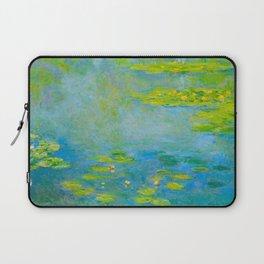 Claude Monet Impressionist Landscape Oil Painting Water Lilies Laptop Sleeve