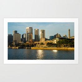 """The Rocks"" Sydney Art Print"