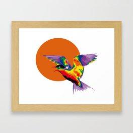 bunter vogel 1 Framed Art Print