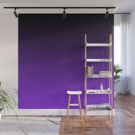 Black and Blue Violet Ombre Wall Mural
