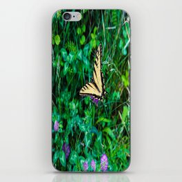 A Butterfly Using Its Wings iPhone Skin