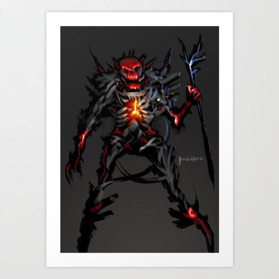Skeleton Magus Art Print