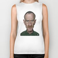 actor Biker Tanks featuring Celebrity Sunday ~ Bryan Cranston by rob art | illustration