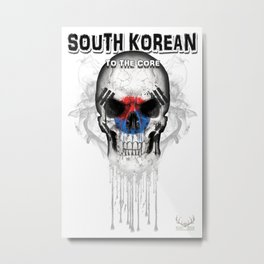 To The Core Collection: South Korea Metal Print