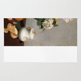 Henri Fantin-Latour - Flowers and Fruit Rug