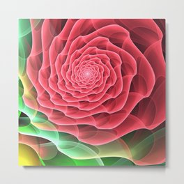 Swirling into a Rose Metal Print