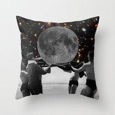 Full Moon Party Throw Pillow