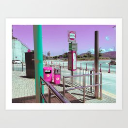 バス停 (各停) /// TM BUS STOP Art Print