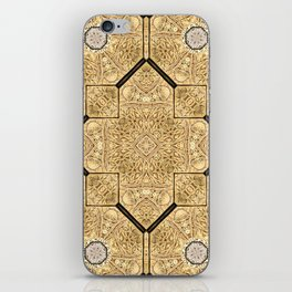 Victorian Art Deco Medieval Pattern brown SB19 iPhone Skin