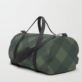 buffalo plaid green Duffle Bag