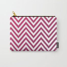 Geometric Lines Pattern Magenda Carry-All Pouch