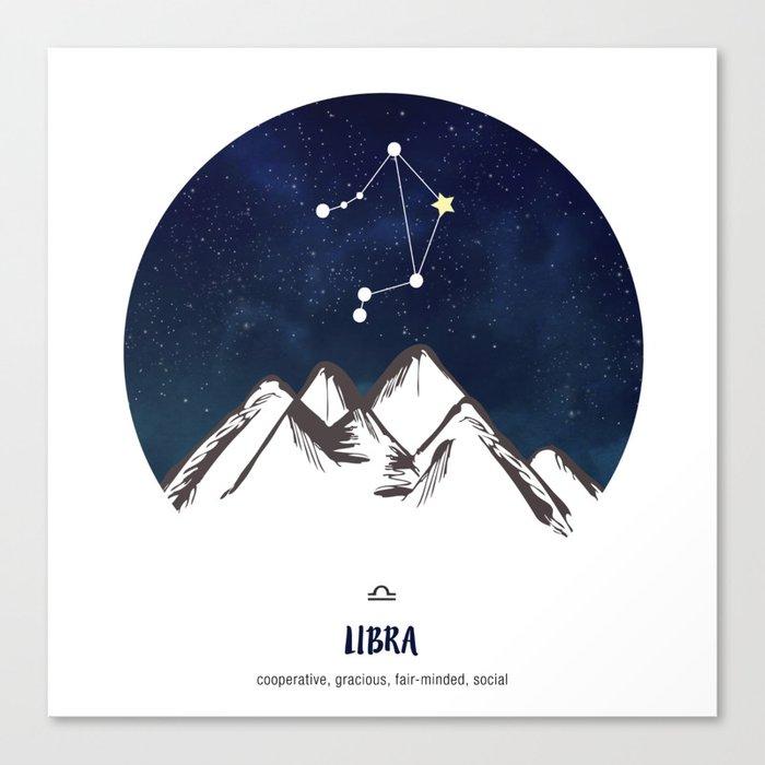 Astrology Libra Zodiac Horoscope Constellation Star Sign Watercolor ...