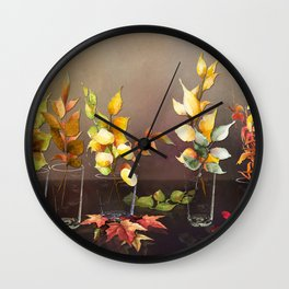 When Every Leaf is a Flower Wall Clock
