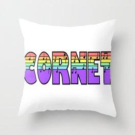 Pastel Cornet Throw Pillow