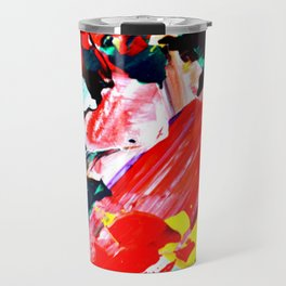 Red Intersections Travel Mug