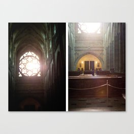 Diptych of St. Vitus Cathedral: Prague, Czech Republic.  Canvas Print